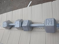 CAP cast iron hex dumbbells 25lbs