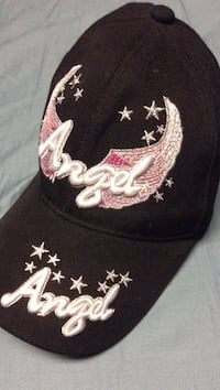 black and pink Angel baseball cap Price, 84501