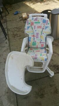 baby's white and pink high chair Olive Branch, 38654