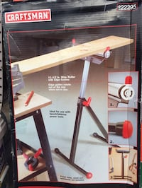 NEW Craftsman roller stand. Have two. $29 each. Compare to $39 retail. Adjustable height, sturdy, supports 130 lbs. Folds for storage or transport. Better than a sawhorse!  Las Vegas, 89147