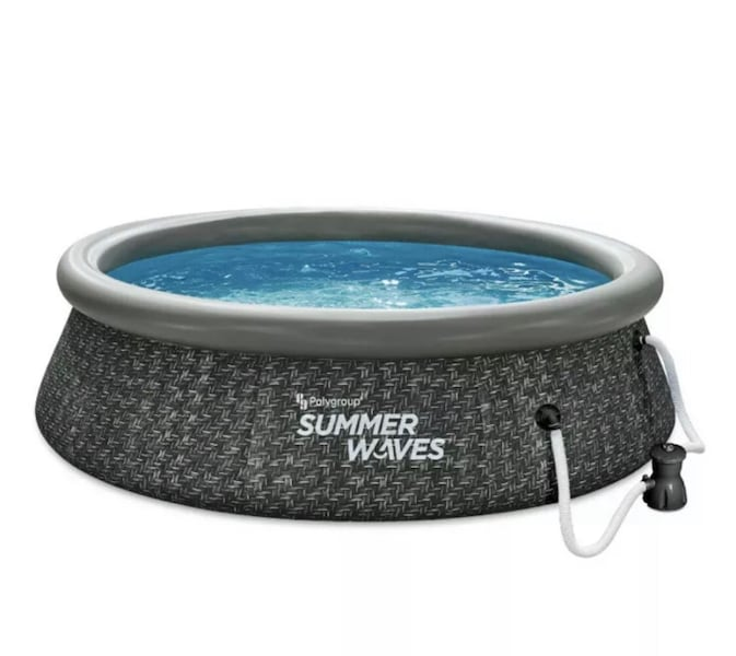 """Summer waves 10' x 30"""" easy set above ground pool with pump b863d779-00ac-455c-9ab3-228d0c2c0b9a"""