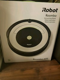 black and white iRobot Roomba vacuum cleaner box Milton, L9T 9A6
