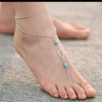 Unique ankle bracelet with torquise  Kingsport, 37664