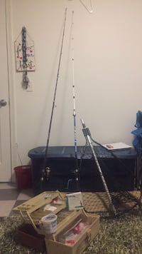 fishing poles and gear