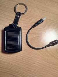 Solar cell charger with cord