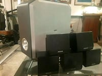 black and gray home theater system Severn, 21144