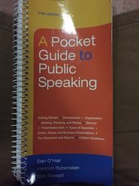 Pocket Guide to a Public Speaking-5th edition Crystal River, 34429