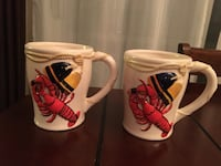 2 lobsters mugs  Montréal, H4N 3K3