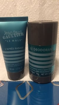 """Jean Paul Gaultier plus bonus *see post* """"Le Male"""" 75 ml deodorant (alcohol free)and 50 ml after shave balm brand new sealed.... Vancouver, V5V 4X9"""
