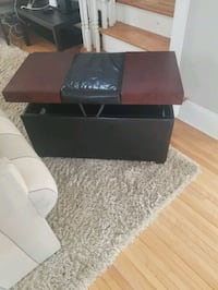 Black leather trunket/ table and footrest Minneapolis, 55414