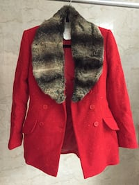 red and gray button-up jacket New York, 11221