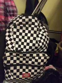 black and white checkered Dickies backpack Portage, 15946