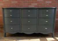 Credenza/Federal Dresser.9 drawers,Charcoal Gray Los Angeles, 90045