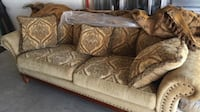 brown and gray floral fabric 3-seat sofa Miami, 33182