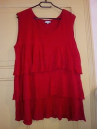Robe sans manches col rond rouge Maubeuge, 59600