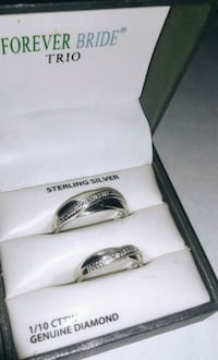 Sterling Silver 1/10 genuine wedding bands Sulphur, 70663
