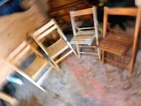 Solid wood chairs folding