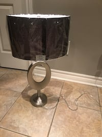 Table lamp silver stand lampe de nuit