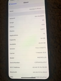 Unlocked iPhone X Forest Heights, 20745