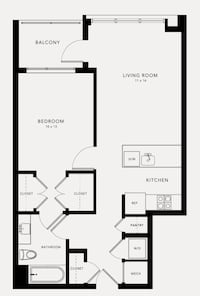 Ten at Clarendon  1BR 1BA for rent, discounted Arlington, 22201