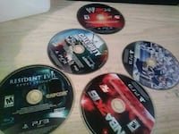 six assorted PS3 game discs New York, 10037