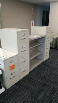 three white metal filing cabinets Columbia, 21046