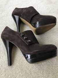 Suede boots /heels  size 6 1/2