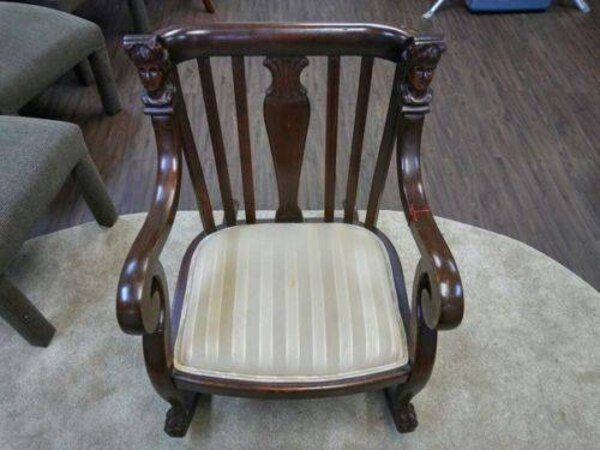 Peachy Queen Anne Style Antique Rocker Chair Gamerscity Chair Design For Home Gamerscityorg