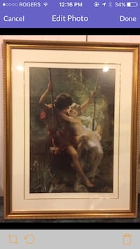 The spring by pierre auguste cot with brown wooden frame Vaughan, L6A 1J3
