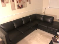 Sectional leather couch with chaise  Arlington, 22201
