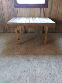 Hand made tables.