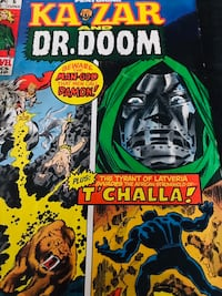 Marvel Comic 1971 Dr.Doom and KA•ZAR issue is June 6 /71