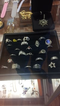 Silver-colored men's ring collection Roanoke, 24012