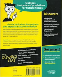 NEW - Nostradamus For Dummies BRAND NEW by Scarlett Ross Paperback Book published 2005 by Wiley Publishing Inc.N.J USA several copies available Local pick-up in Newmarket Newmarket