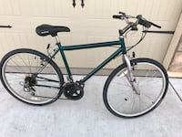 blue and black hardtail bike 2282 mi