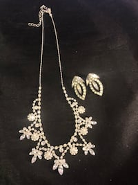 Rhinestone Necklace and Earring Set Mobile, 36609