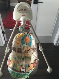Baby's white and gray cradle and swing London, N6H 5K1