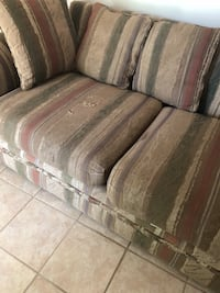 brown wooden framed brown fabric padded sofa Kingstree, 29556