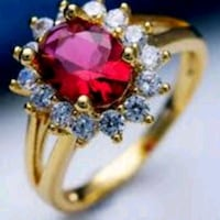 Oval Cut Garnet and Sapphire gold plated anniversa Oakland, 94601