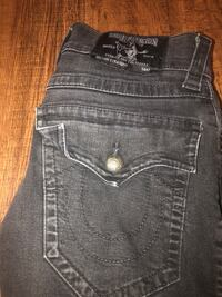 black true religion jeans