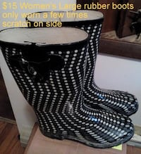 Ladies large rubber rain / mud boots  Martinsburg, WV, USA