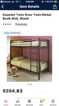Twin over twin bunk bed Lynn