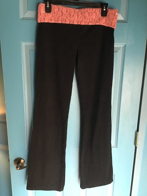 Sold Cute Pink Boot Cut Flare Fold Over Yoga Pants In Antioch Letgo