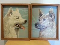 PAIR of Hand Painted Dogs  Mississauga, L5N 2X2