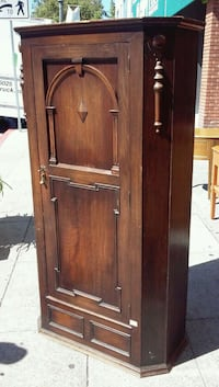 "#17295 Antique Tiger Oak 37"" wide Armoire - $325 Oakland, 94610"