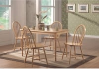 Real wood dining room table set with 4 chairs brand new in box Jacksonville, 32216