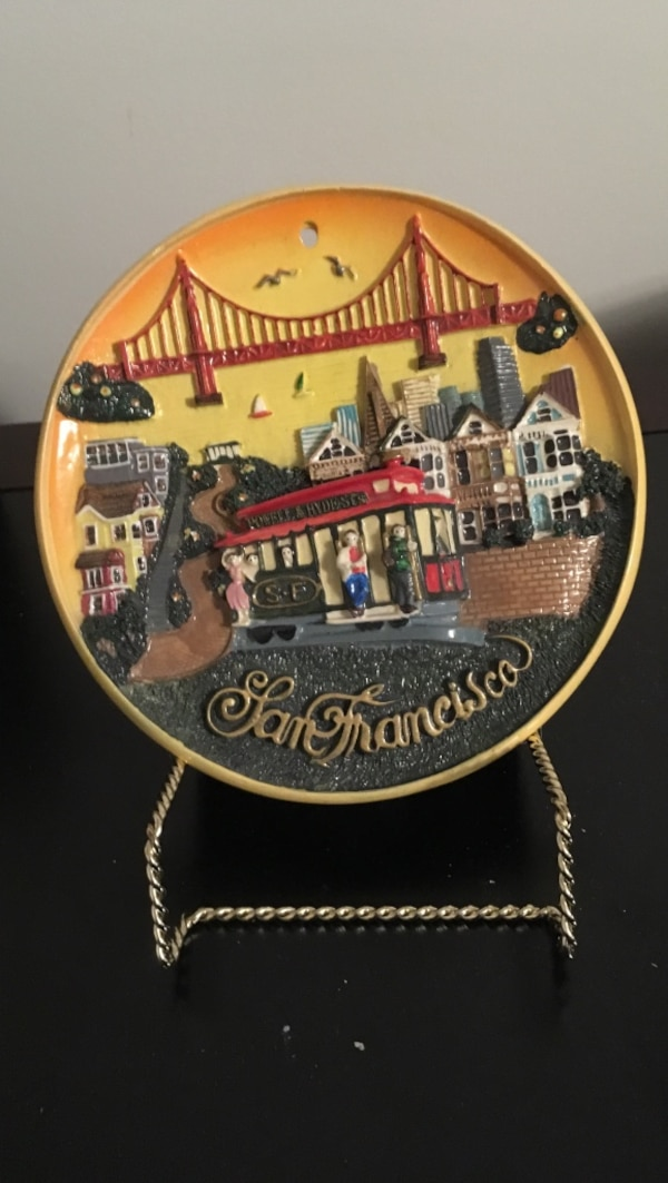 SAN francisco decorative plate