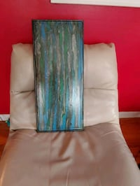 blue and green abstract painting Des Moines, 50317