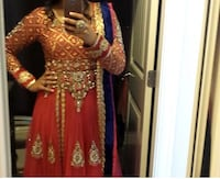 Women's red and brown traditional dress Surrey, V3W 6S9