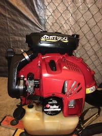 red and black Troy-Bilt leaf blower